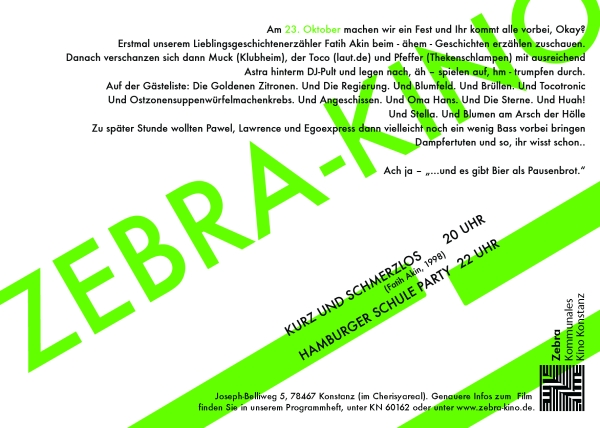 hamburger schule flyer II
