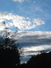 die wolken nehmen form an