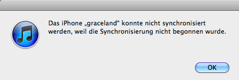 iphone synchronisierung